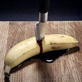 Grunge banana — Stock Photo