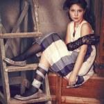 Fashion portrait of little girl — Stock Photo