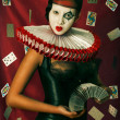 Stock Photo: Queen of hearts.