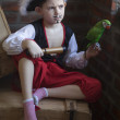 Portrait of young boy dressed as pirate — Stock Photo