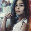 Portrait of little girl — Stock Photo