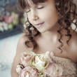 Stock fotografie: Girl with bouquet