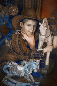 Little boy in cowboy costume — ストック写真