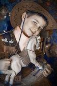 Little boy in cowboy costume — Stockfoto