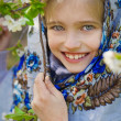 Girl in traditional russian clothes — Stock Photo #46131455