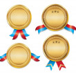 Award Medals Template Set 01 — Stock Photo