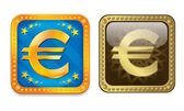Glossy Euro Icon — Stock Vector