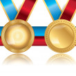 Award Medals Template Set 05 — Stock Vector