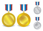 Award Medals Template Set 07 — Stock Vector
