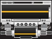Ses video oynatıcı 07 — Stok Vektör
