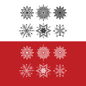 Snow Flakes Christmas Decoration — Stock Vector