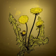 Dandelion — Vector de stock #41379691