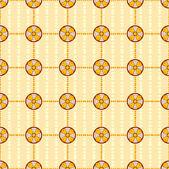 Seamless mönster med cirklar — Stockvektor