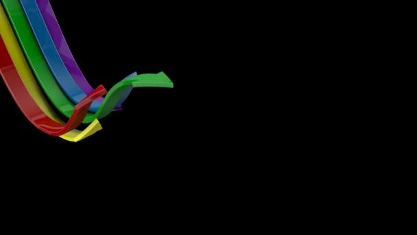Transición de flechas con alfa — Vídeo de stock