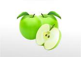 Green three apple — Stock Vector