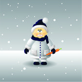 Frozen boy — Vector de stock