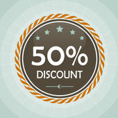 Vintage 50 percent discount label — Stock Vector