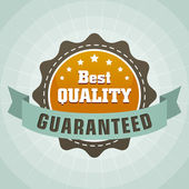 Vintage best quality guaranteed label — Stock Vector