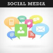 Internet sociala medier — Stockvektor