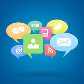 Medios sociales de internet — Vector de stock