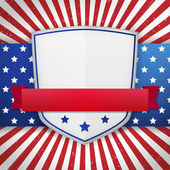 Vintage american shield — Stock Vector