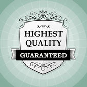 Vintage highest quality label — Stock Vector