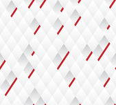 Vector background, white and gray geometric pattern width red lines. — Stock Vector