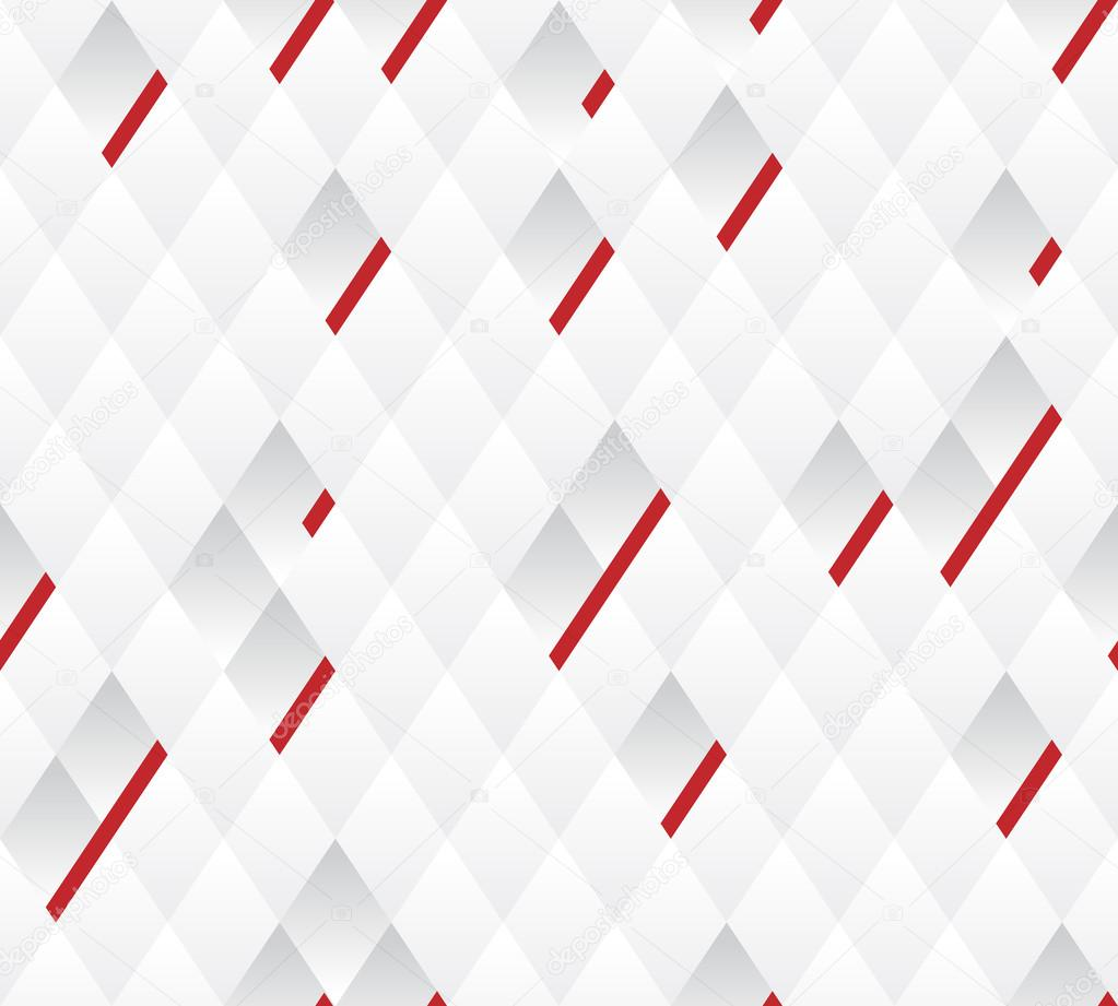 Vector background, white and gray geometric pattern width red lines ...