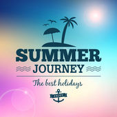 Summer journey vector vintage poster — Stock Vector