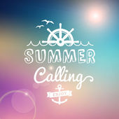 Enjoy Summer calling vector vintage poster — Stock Vector