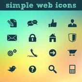 Web icons: internet vector set on blured background — Vector de stock