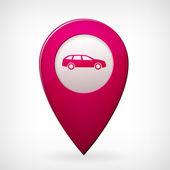Purple vector map car pointer — Cтоковый вектор