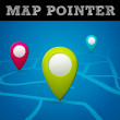 Vector map pointer — Stock Vector