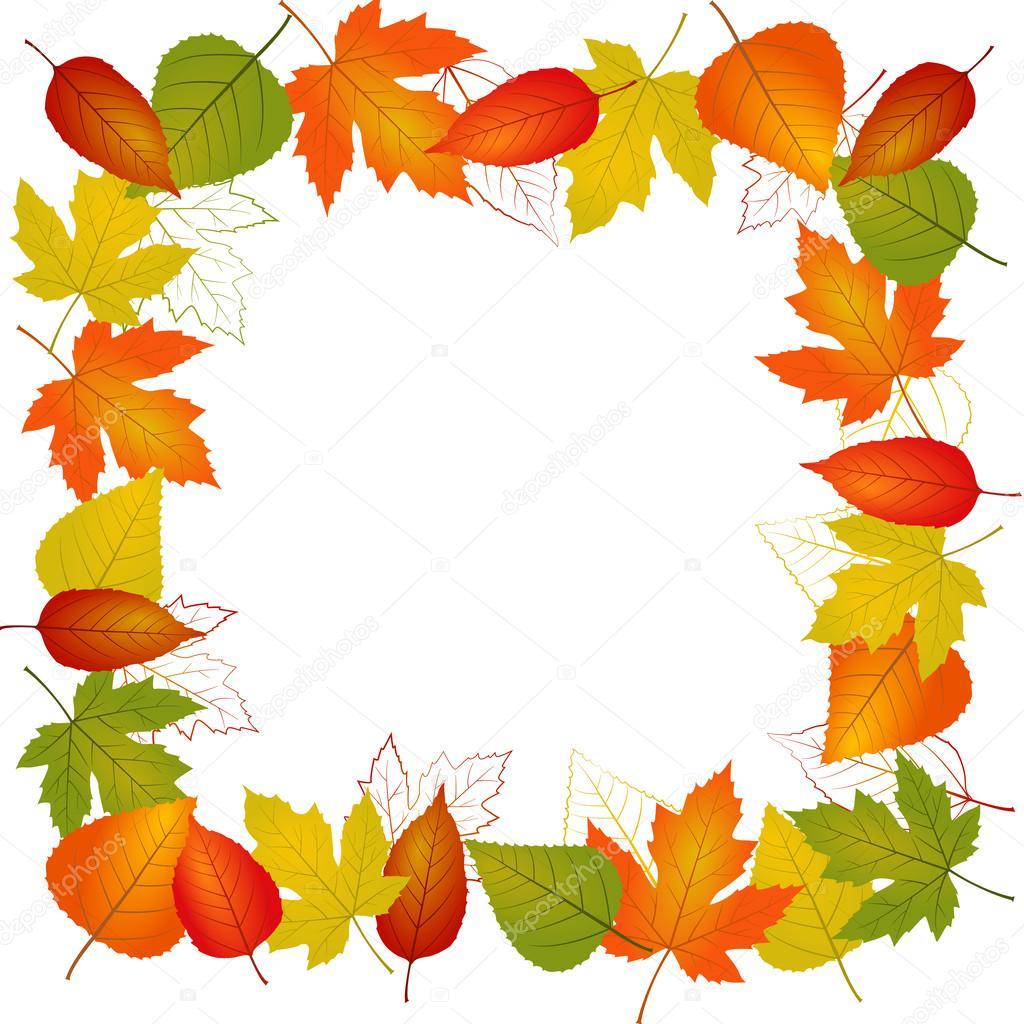 Bordure de feuilles automne vector image vectorielle - Image feuille automne ...