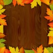 Wood autumn vector background — Stock Vector
