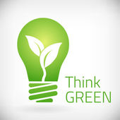 Think green eco bulb — Stock Vector