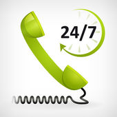 Bel ons vierentwintig uur — Stockvector