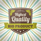 Highest quality bio product label — Stock Vector
