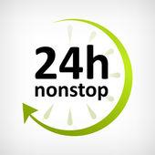 Twenty four hours nonstop open — Wektor stockowy