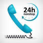 Call us twenty four hours nonstop — Stock Vector