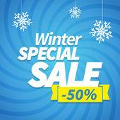 Winter special sale — Stock Vector