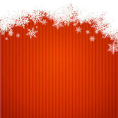 Red christmas background width snowlakes — Stock Vector