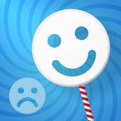 Positive smiley better than negative — Stock Vector