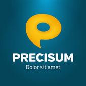 Speech bubble as symbol P logo template — Stock Vector