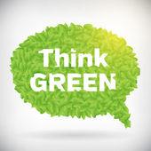 Ecology Think green speech bubble — Stock Vector