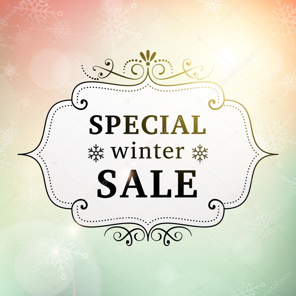 Winter special sale vintage poster stock vector for Photographs for sale online