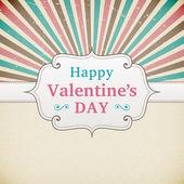 Valentine's Day retro poster — Stock Vector