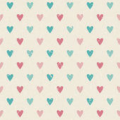 Valentine retro seamless hearts pattern — Stock Vector