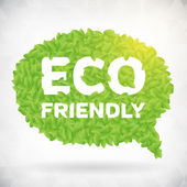 ECO friendly green leaf speech bubble — Stock Vector