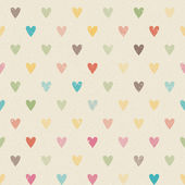 Valentine colorful retro seamless hearts pattern — ストックベクタ